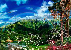 Only Heaven Can Know / Satoshi Matsuyama #Satoshi Matsuyama #Hawaii #art #Landscape