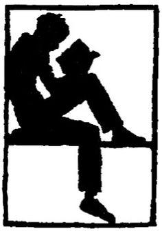boy reading silhouette by Captain Geoffrey Spaulding, via Flickr