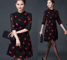 =>>Save on2015 new spring summer dress Women's Fashion Black Chiffon Red Lips Plus size Office Ladies dress 86A 602015 new spring summer dress Women's Fashion Black Chiffon Red Lips Plus size Office Ladies dress 86A 60This is great for...Cleck Hot Deals >>> http://id042357168.cloudns.pointto.us/32355678969.html images