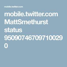 mobile.twitter.com MattSmethurst status 950907467097100290