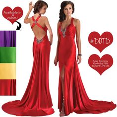 sexy evening gown