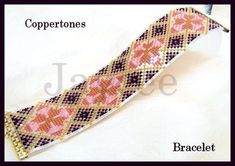 Bead Pattern Coppertones bracelet Loom stitch