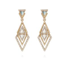Portico Post Drop Earrings | Chloe + Isabel ($42) ❤ liked on Polyvore featuring jewelry, earrings, chloe + isabel, drop earrings and chloe isabel jewelry