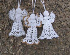 Crochet angel Christmas ornament Home decor A12