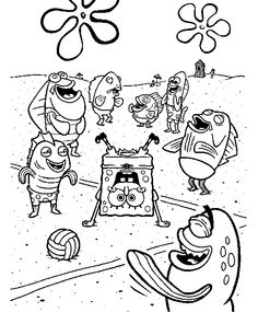 spongebob makes his friend laughing coloring pages spongebob coloring pages kidsdrawing free coloring