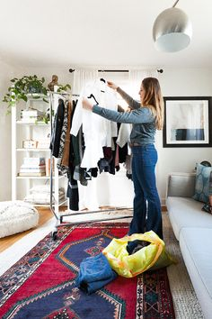 How to clean out your closet. My best tips and tricks to get your closet organized, especially for a tiny house or small space! Plus, tips for how to donate. Wardrobe Closet, Capsule Wardrobe, Toy Room Storage, Tiny House Appliances, Closet Hacks, Tiny House Community, Tiny Closet, Small Closet Organization, Cleaning Closet