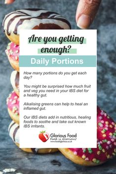 Are you getting enough? Find out how many portions you really need in your diet #happysunday #selfcaresunday #Sundayspecial #weekendvibes #portionsize #sizematters Ibs Flare Up, Ibs Bloating, Ibs Relief, Ibs Diet, Fruit And Veg, Get Healthy, Love Food, Humor