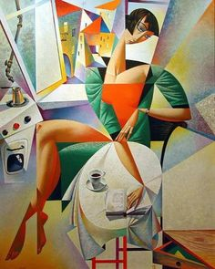 Summer Reading / Lectura de verano (il·lustración de Georgy Kurasov) (vía thomerama)