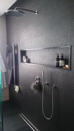 Corian bathroom shelves, custom-made Corian basins & c . - Corian bathroom shelves, custom-made Corian basins & c … – # custom - Modern Bathroom, Master Bathroom, Bathroom Black, Minimalist Bathroom, Modern Faucets, Gray Bathroom Tiles, Nature Bathroom, Masculine Bathroom, Neutral Bathroom