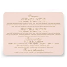 1000+ ideas about Accommodations Card on Pinterest Reception Card ...
