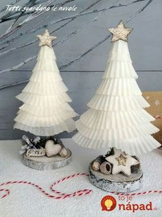 Add a little holiday cheer to your home with these festive tabletop DIY Christmas tree decorations! These Christmas tree crafts are fun, easy & kid-friendly Tabletop Christmas Tree, Christmas Tree Crafts, Mini Christmas Tree, All Things Christmas, White Christmas, Christmas Tree Decorations, Christmas Time, Christmas Ornaments, Paper Christmas Trees