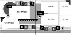 Image result for 2 page layouts scrapbook