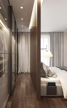 interior 14 on Behance Modern Luxury Bedroom, Luxury Bedroom Design, Bedroom Closet Design, Bedroom Furniture Design, Home Room Design, Small Room Bedroom, Master Bedroom Design, Luxurious Bedrooms, Home Decor Bedroom