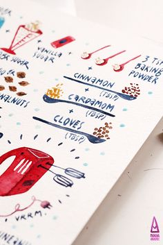 Moldavian Recipes - illustrated by madalina andronic, via Behance