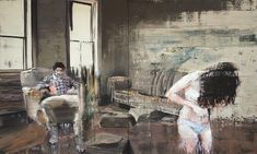 Wallpaper Falling of the Wall - 2014 - Andy Denzler Matte Painting, Artist Painting, Joseph, Cream Room, Beach At Night, Another Day In Paradise, Fall Wallpaper, Under My Skin, Tecno