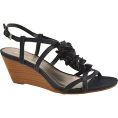 SALE - Womens Bandolino Ginelle Wedge Heels Black Fabric - Was $69.00 - SAVE $15.00. BUY Now - ONLY $53.95