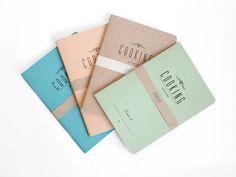 COOKING secrets  lot 4  letterpress printed notebook  by ARMINHO, $32.00