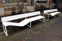 'soft bench' by lucile soufflet for tôlerie forézienne, 2008  image © designboom