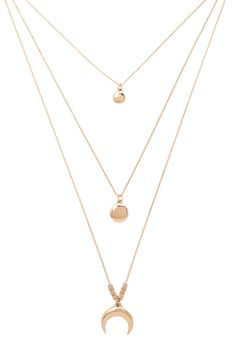 Moon Longline Layered Necklace #accessorize