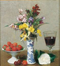 Henri Fantin-Latour (French, 1836– 1904), The Engagement Still Life, 1869, oil on canvas, 1215/16 × 12 in. Musée de Grenoble, MG 2490