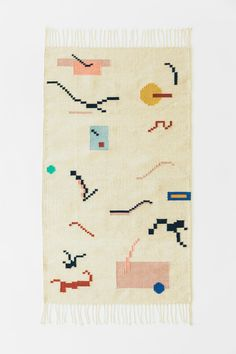 Playscape Rug in Natural — SOFT CENTURY Contemporary Area Rugs, Modern Area Rugs, Handmade Home, Handmade Rugs, Morrocan Rug, American Indian Art, Native American, Furniture Upholstery, Surface Pattern Design