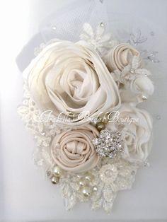 Bridal Hair Accessory Vintage Lace Wedding by ArabellasBridal, $70.00 etsy