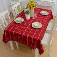 Home Textile Supply Simple Ikea Style Wine Red Checked Stripe