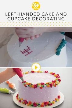 Watch this video to learn a few tips for left-handed cake decorators! #wiltoncakes #youtube #howto #tutorial #videos #bakingvideos #bakingdessertsvideos #cakedecoratingtutorials #buttercreamvideo #royalicingvideo #education #beginner #learning #beginnerideas #lefties #cakedecorating