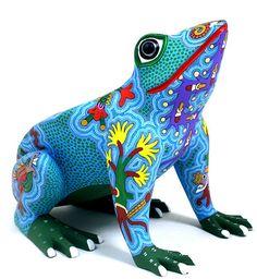 Oaxacan Wood Carvings Bertha Cruz Frog
