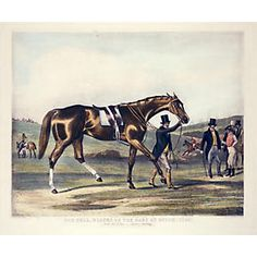 Champion Horse with Jockey / Owner