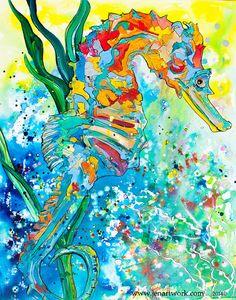 SEAHORSE ONE - Jen Callahan Artwork - Coastal Colors™