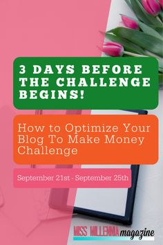 Want to make more money with your blog? Join me in my 5-Day How To Optimize Your Blog To Make Money Challenge! It starts on September 21st. Will you be there? ⠀ Make Money Blogging, Way To Make Money, Money Saving Tips, Make Money Online, How To Make, Money Challenge, Make Blog, Finance Tips, Blogging For Beginners