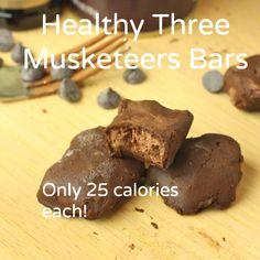 Healthy Three Musketeers (Vegan/Sugar Free/Low Carb) - Foodie Fiasco