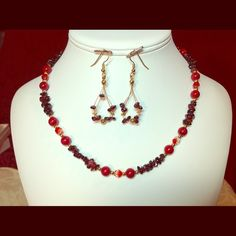 """Spotted while shopping on Poshmark: """"Handcrafted Necklace /Earrings  #5045""""! #poshmark #fashion #shopping #style #FireGlow Gem #Jewelry"""