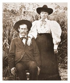 Laura and Almanzo Wilder in Florida.