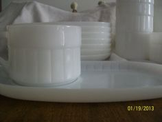 vintage Federal milk glass snack plates with by LandLcollectables, $25.00