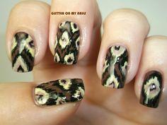 GLITTER ON MY NAILS: IKAT #nail #nails #nailart