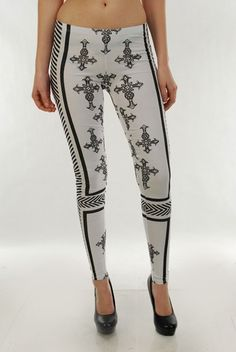 Gothic cross leggings, $30.00 by Appealing Boutique