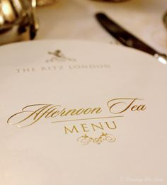 Pudding Pie Lane: Afternoon Tea at The Ritz, London