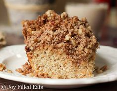 Tender golden cake topped with a heaping pile of cinnamon pecan crumbs? Yes. My Cinnamon Pecan Crumb Cake is perfect for breakfast, dessert, or a snack.
