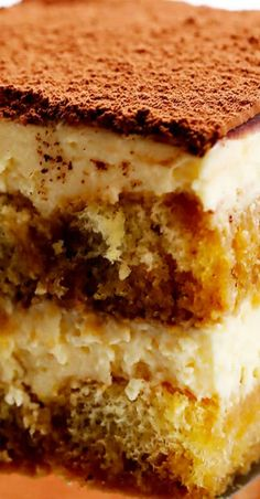 Tiramisu Italian Pasta Recipes, Italian Dishes, Fun Desserts, Dessert Recipes, Italian Tiramisu, Cream Cheese Eggs, Gimme Some Oven, Tiramisu Recipe, Espresso Powder