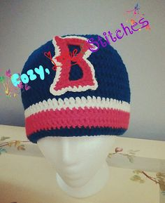 Crochet Red Sox Hat