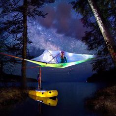 Sleeping between the trees, over the water. There is no limit to what you can do in the outdoors. Just go, that's all it takes.