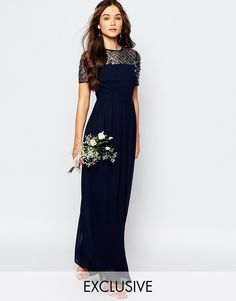 Image 1 ofMaya Chiffon Maxi Dress with Embellishment