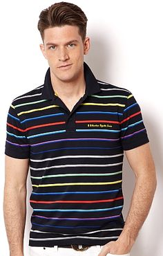 Rainbow Stripe Polo Shirt