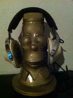 Gold homer headphones holder