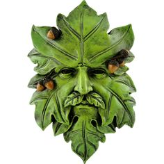 A great addition to your fairy garden project for spring and summer this is acorn greenman! He can watch over your fairy garden! Hand painted resin L: 5 W: Not a toy Clay Monsters, Old Oak Tree, Fantasy Castle, Garden In The Woods, Woodland Creatures, Tile Art, Wall Tiles, Green Man, Polymer Clay Art