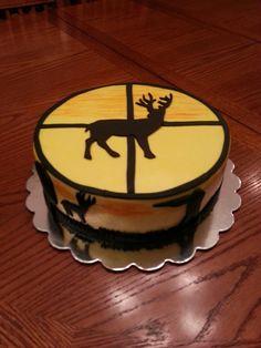 deer hunting scope view cake