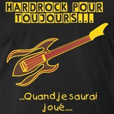 T-shirt Premium foncé Guitare électrique 'rock pour toujours'