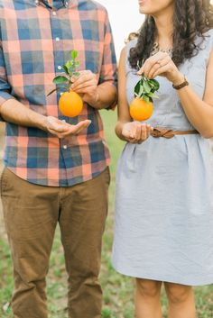 Adorable engagement session | Photography: Everlasting Love Photography - www.everlastinglovephotography.com  Read More: http://www.stylemepretty.com/2015/05/19/florida-orange-grove-engagement-session/